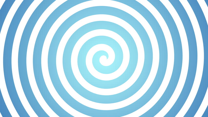 Blue Spirals Wallpapers: Hypnotic Rotating Blue Spiral On The White Stock Footage