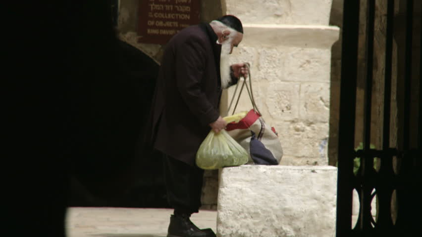 JERUSALEM, ISRAEL - CIRCA MAY 2009: Religious man in the old city