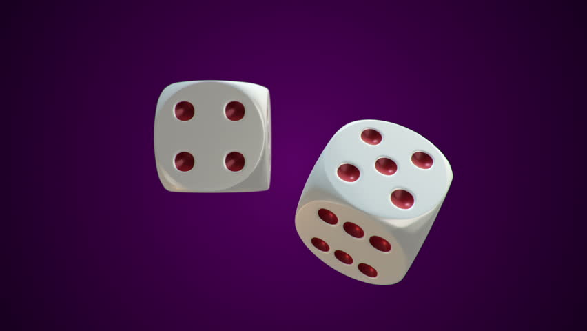 Animation of rotation two dice for casino or different games of chance. Animation of seamless loop. | Shutterstock HD Video #18041962
