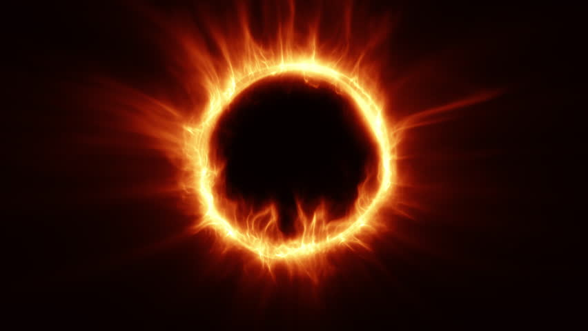 Fire Ring Flame Circle 4k Animation Stock Footage Video