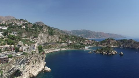 Aerial View of Taormina, Sicily, Italy
