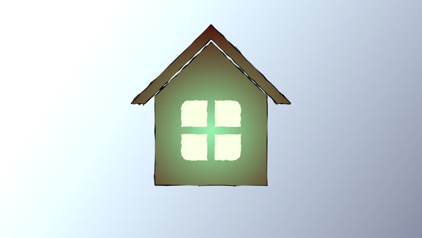 Animated Green Buildings : Animated construction building of cartoon block house