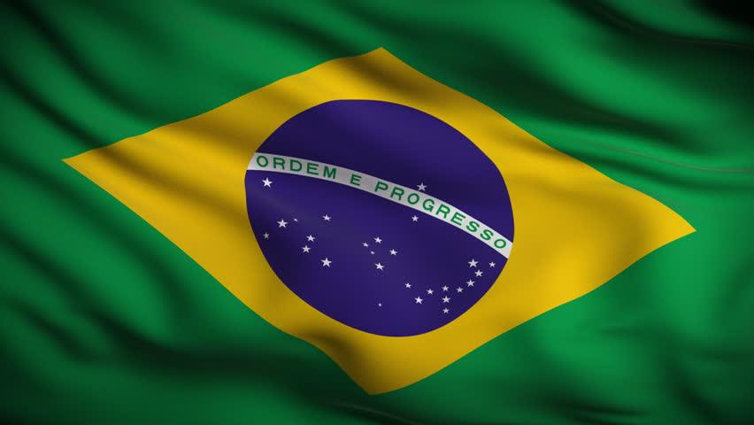 Brazilian Flag HD. Looped.