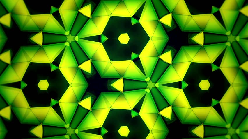Color Kaleidoscope - Green Yellow Big and Rotate - Tint - 1   Shutterstock HD Video #1821722