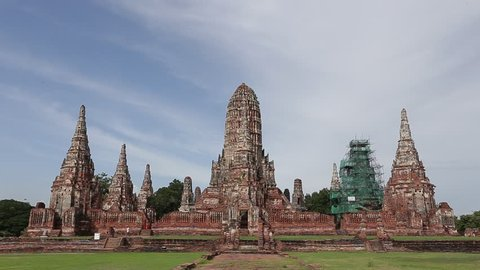 Wat Chai Watthanaram landmark old temple in the city of Ayutthaya historical park, The temple was constructed in 1630 by the King Prasat Thong, Ayutthaya province, Thailand