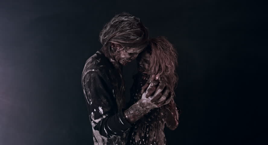 Lovers of zombies dancing. Apocalypse. | Shutterstock HD Video #18229852