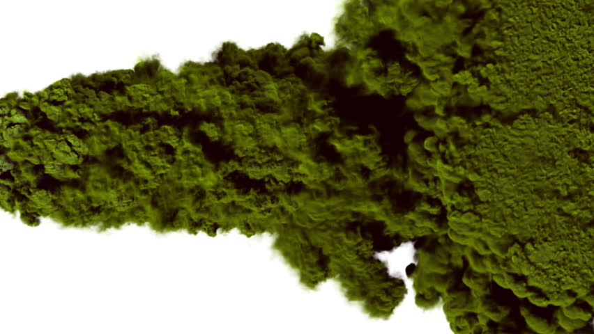 Green smoke, steam on a white background. Alpha channel. 3D animation and rendering.  | Shutterstock HD Video #18278602