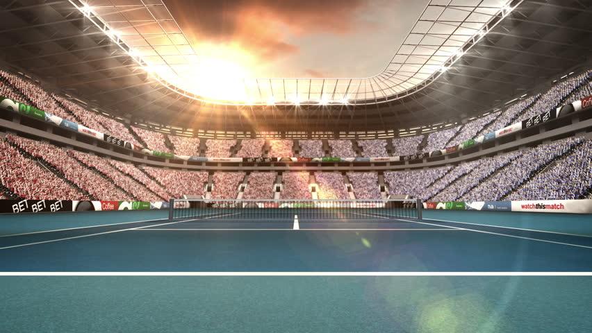 View of spectators in tennis stadium | Shutterstock HD Video #18325432