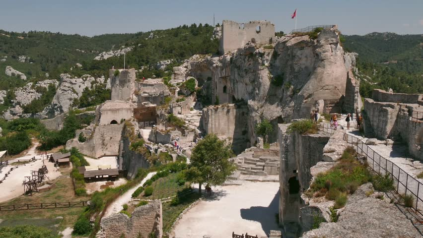 les baux france july 2016 view of the traditional medieval village of les baux de provence southern france ruins of castle in a beautiful typical - Traditional Castle 2016