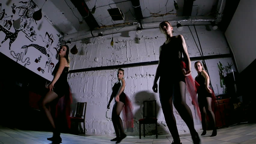 Contemporary dance performance of four dancers #18379372