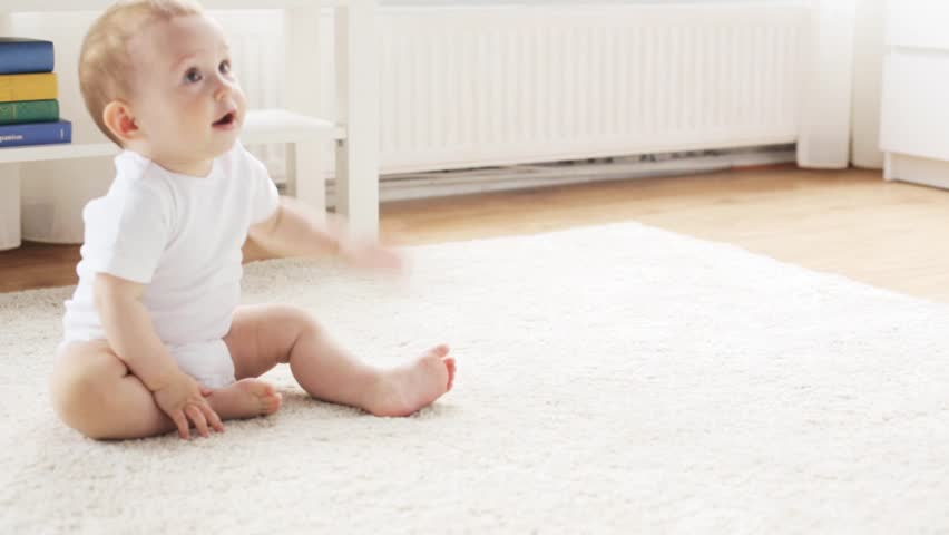 Cute Baby On A Sofa Stock Footage Video 1231567 | Shutterstock