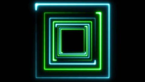 Vj Loop Tunnel Neon Lines