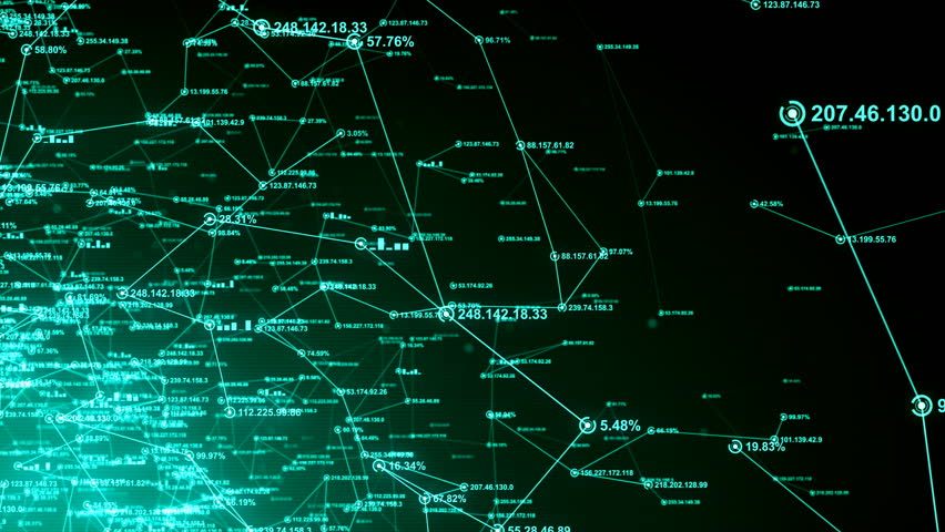Computer network and data communication. An abstract background of internet connections. Green version. Seamless loop. Available in multiple color options. 4K | Shutterstock HD Video #18504962