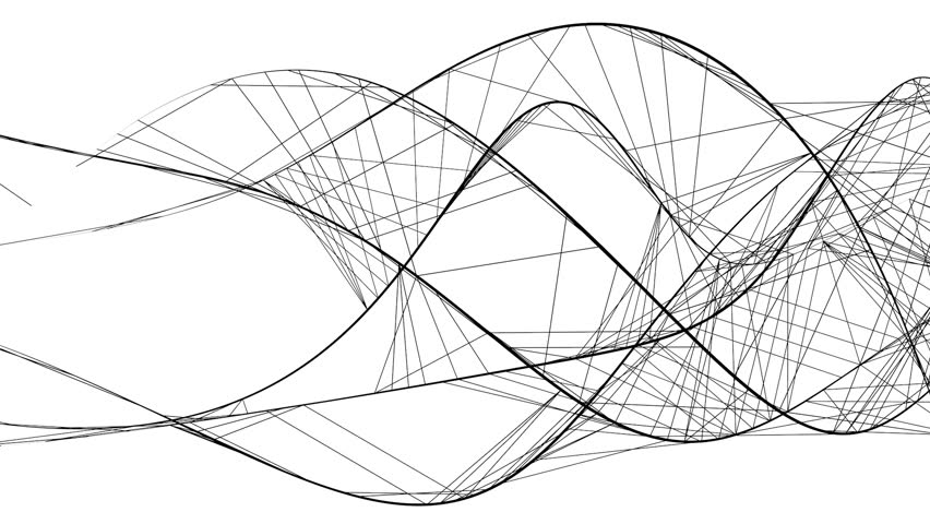 Graphic Line Design Art : Abstract graphic structure of flowing white lines