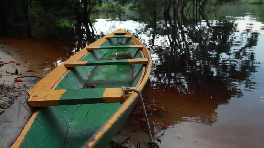 Canoe on the river, Manaus, Brazil 2015