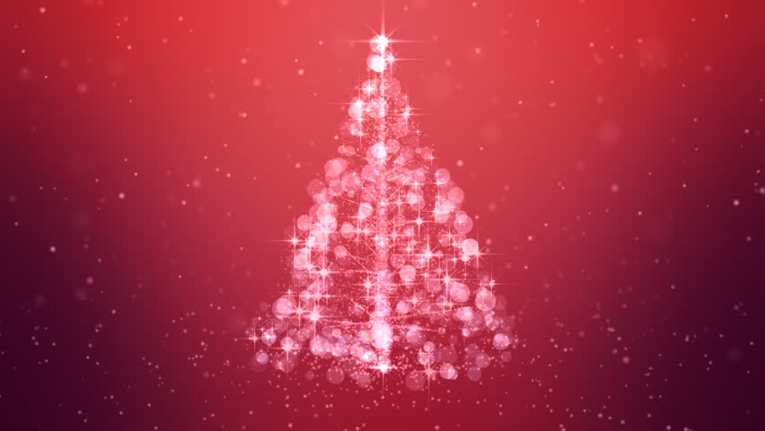 Stock Video Of Loopable Animation Christmas Tree Pink