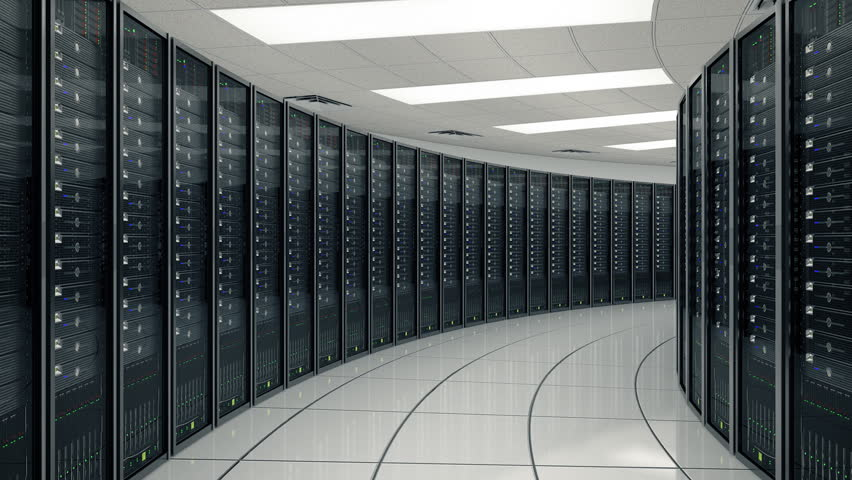 Seamlessly looping animation of rack servers in data center | Shutterstock HD Video #1857298