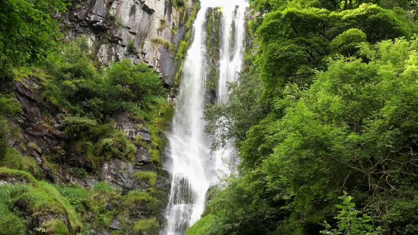 Pistyll Ryder waterfall - Oswestry, Wales, United Kingdom: August 2016 #18588932