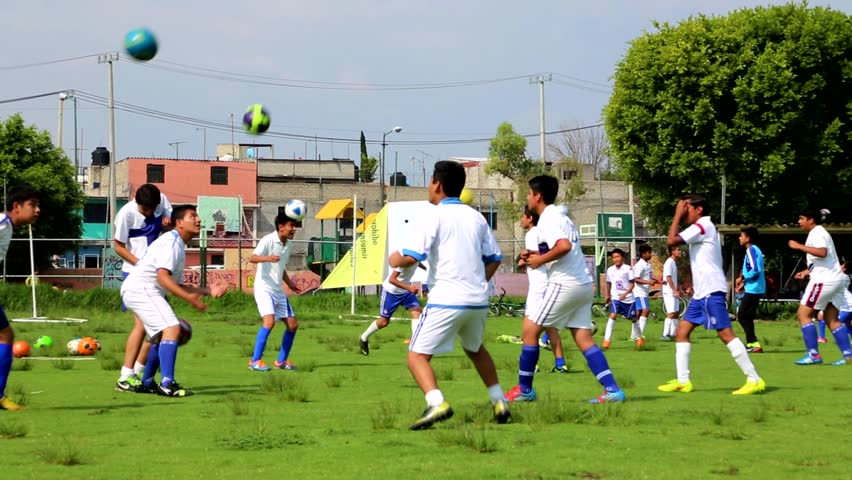 Mexican kids playing soccer