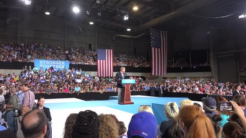 Florida Senator Bill Nelson at a rally for Democratic Presidential Nominee Hillary Clinton At The Florida Fairgrounds in Tampa. 07/22/2016