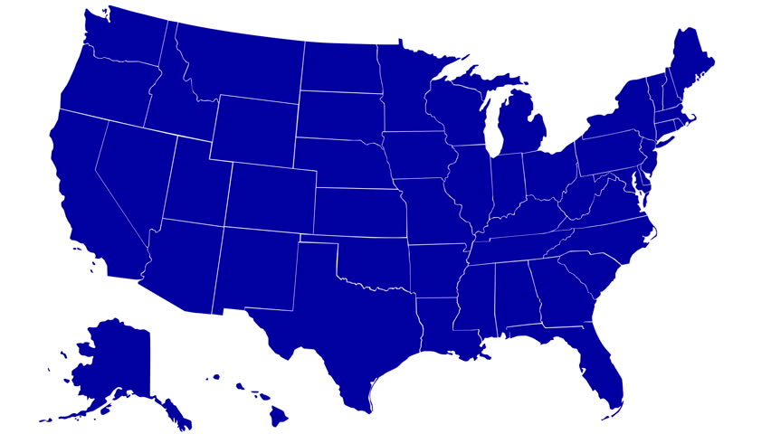 State Of Alaska Map Reveals From The USA Map Silhouette Animation - Alaska us map