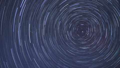 Circular star trails time-lapse