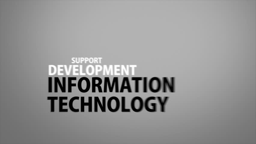 Kinetic buzzwords for information technology | Shutterstock HD Video #18700292