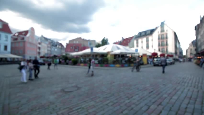 Old Riga evening crossroad bokeh background   Shutterstock HD Video #18756272