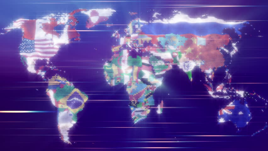 Political map from particles is a stylized world map with flags political map from particles is a stylized world map with flags which indicates the borders of each country shines and wavy movement of particles adding gumiabroncs Images
