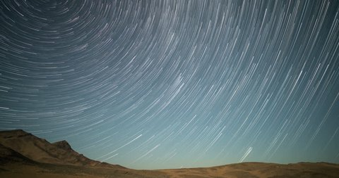 Peak Perseid Meteor Shower Star Trails Time Lapse, Aug. 11/12 2016