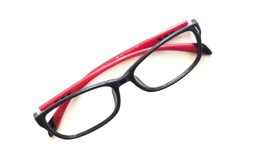 Color Eye Glasses Frame Isolated Stock Footage Video 100 Royalty Free 18779252 Shutterstock
