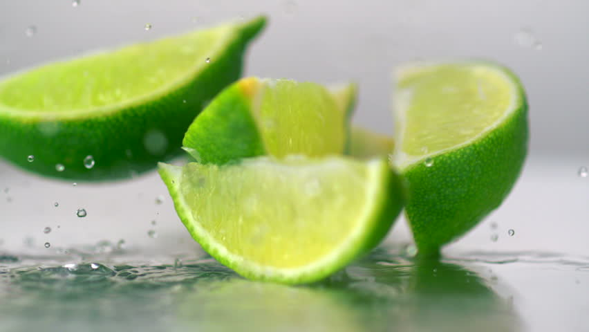 Close-up three whole limes #1881058