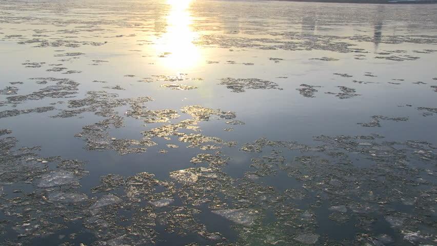 Montreal winter sunset zoom forward left pan