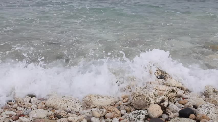 motion of the waves on the beach