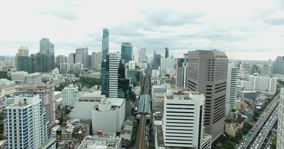 Beautiful modern buildings of the Asian metropolis. Filming drone | Shutterstock HD Video #18962792