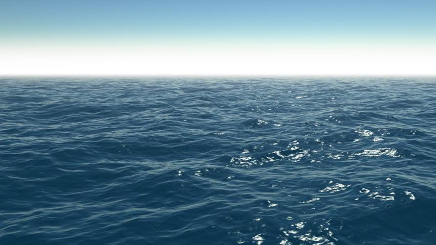 Cg calm ocean scene with clear sky. #19003942