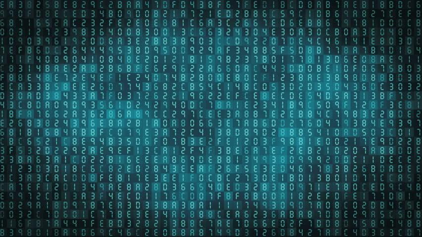 Hexadecimal Computer Code Numbers Background Stock Footage ...  Hexadecimal Com...