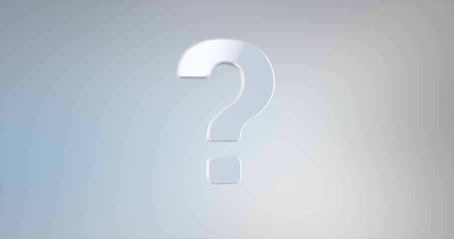 Animated Question Mark White 3d Icon Loop Modules for edit with alpha matte