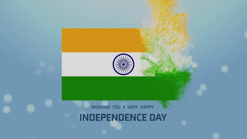 Hd0010the Hd India Independence Day Animated Flag Background