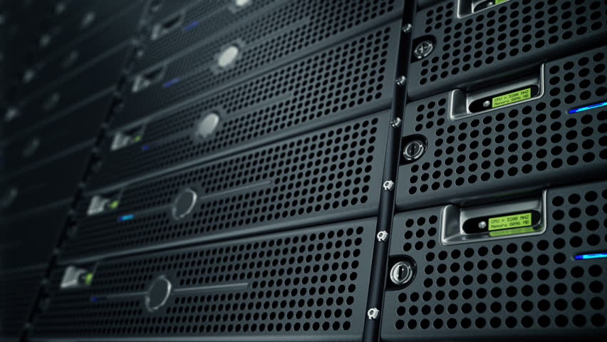 Seamlessly looping animation of rack servers in data center | Shutterstock HD Video #1914622