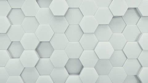 Abstract Hexagons Background Random Motion, 3d Loopable Animation 4k
