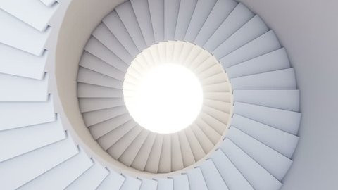 Spiral stair to the future. Seamless loop. HD.