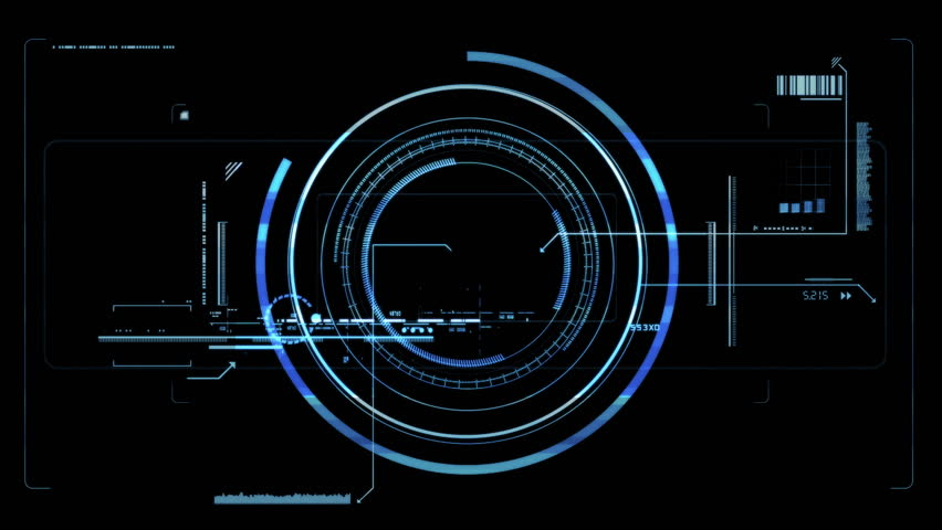 Futuristic viewfinder in 4k resolution. Best for the inside to the movie, or animation. Inside animations: 1. Blue glowing viewfinder, 2. White, matte viewfinder, 3. Looped, background