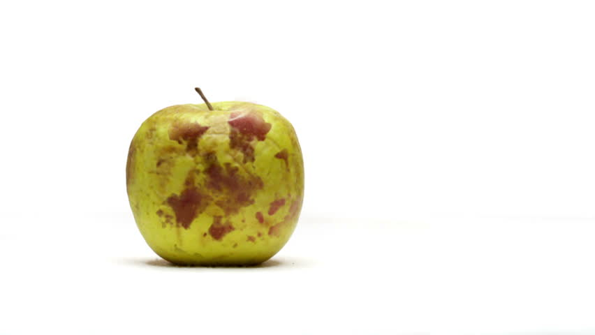 Apple changing after injected with genetically modified DNA