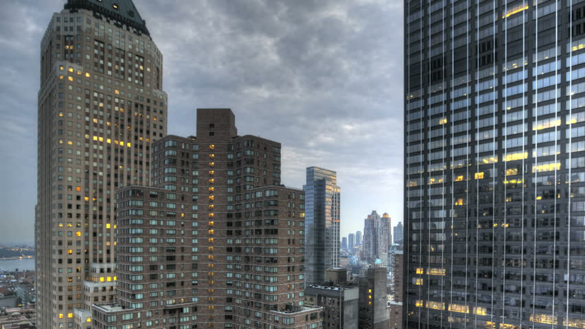 HDR Timelapse Urban Canyon New York City