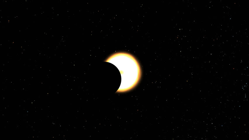 A total solar eclipse, in particular, the 2017 total solar eclipse.  The moon mostly covers the visible Sun creating a ring of fire.