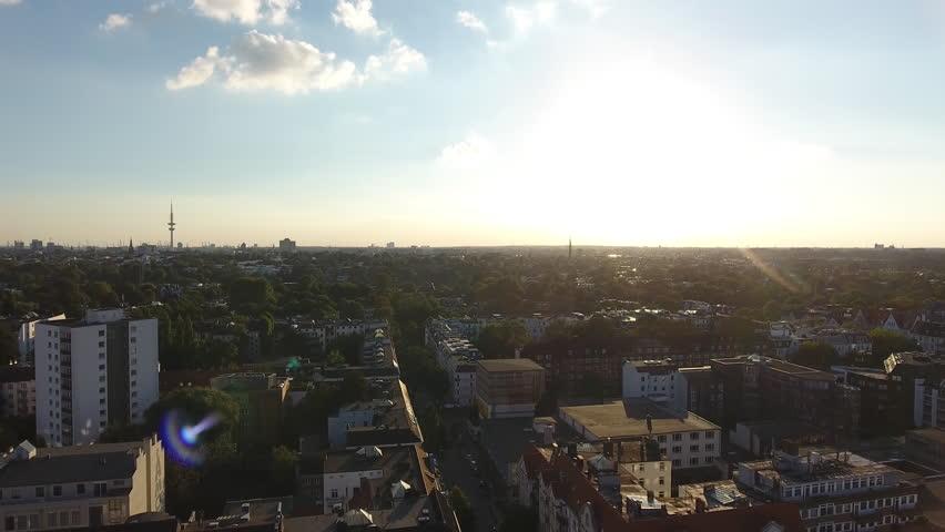 Sun going down Aerial.