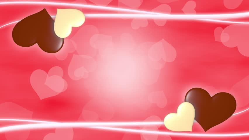 Heart Valentine Frame 2 Pattern Bright Background Stock Footage ...