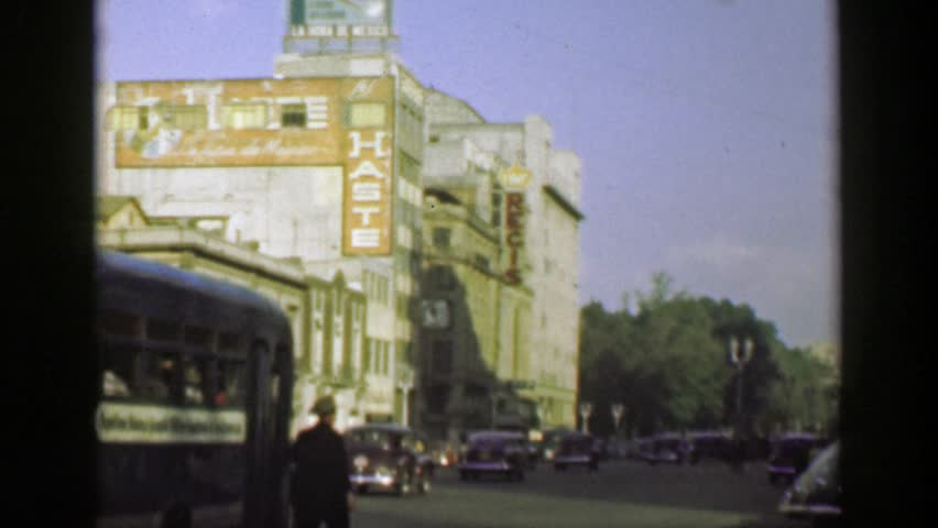 Mexico City, Mexico 1952: Downtown Stock Footage Video (100% Royalty-free)  19389982 | Shutterstock
