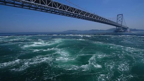 Large Naruto bridge and whirling current